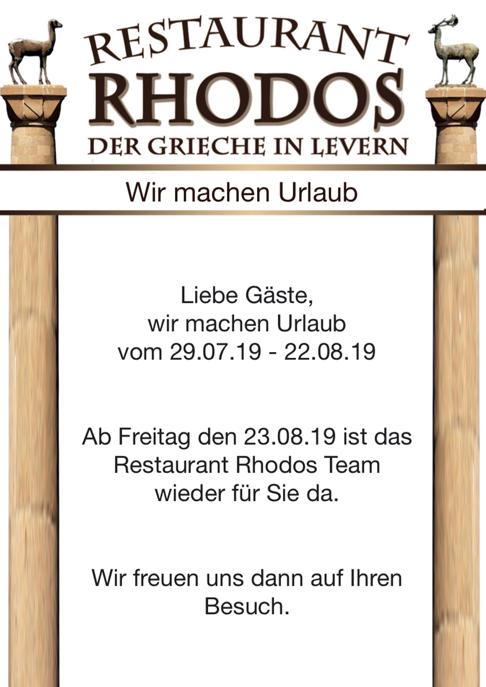 Karte Rhodos Urlaub.Start Restaurant Rhodos